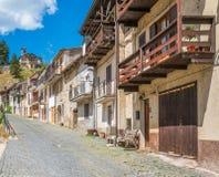 Scenisk sikt i Tagliacozzo, landskap av L ` Aquila, Abruzzo, Italien Royaltyfri Foto