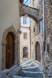 Scenisk sikt i Tagliacozzo, landskap av L ` Aquila, Abruzzo, Italien Arkivbild
