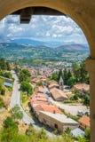 Scenisk sikt i Tagliacozzo, landskap av L ` Aquila, Abruzzo, Italien Royaltyfri Fotografi