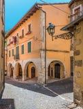 Scenisk sikt i Tagliacozzo, landskap av L ` Aquila, Abruzzo, Italien Arkivfoto
