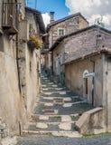 Scenisk sikt i Tagliacozzo, landskap av L ` Aquila, Abruzzo, Italien Fotografering för Bildbyråer