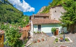 Scenisk sikt i Tagliacozzo, landskap av L ` Aquila, Abruzzo, Italien Royaltyfri Bild