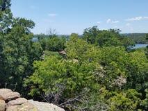 Scenisk sikt - mineral väller fram Texas arkivbilder