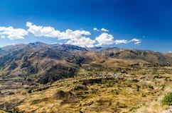Scenisk sikt på dalen i Peru Royaltyfria Bilder