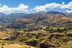 Scenisk sikt på dalen i Peru Arkivfoton