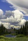Scenisk sikt på den Yellowstone nationalparken Arkivfoton