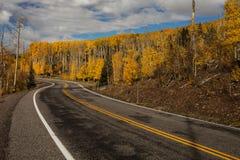 Scenisk sikt till högländerna på bywayen 12 i Utah, USA Arkivbilder