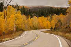 Scenisk sikt till högländerna på bywayen 12 i Utah, USA Royaltyfria Foton