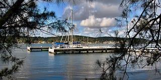 Scenisk sjöhamnplats Arkivbilder