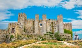Scenisk sommarsikt i Obidos, Leiria område, Portugal Royaltyfri Foto