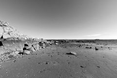 Scenisk strand, Long Island Sound Arkivfoto