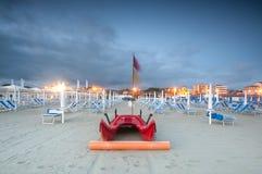 Scenisk strand, Viareggio, Italien Arkivbilder