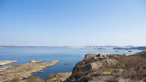 scenisk svensk sikt för kust Royaltyfria Bilder
