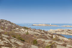 scenisk svensk sikt för kust Arkivbild