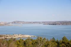 scenisk svensk sikt för kust Royaltyfri Fotografi
