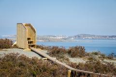 scenisk svensk sikt för kust Arkivfoto
