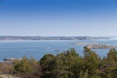 scenisk svensk sikt för kust Royaltyfria Foton