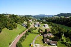 scenisk townsikt för ariel Royaltyfria Foton