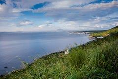 Scenisk utsikt som förbiser den Batangas staden, Filippinerna royaltyfri foto
