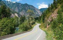 Scenisk väg i British Columbia Fotografering för Bildbyråer