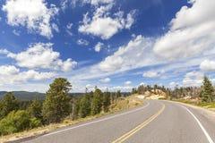 Scenisk väg i Bryce Canyon National Park, Utah, USA Royaltyfri Foto