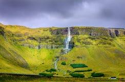 scenisk vattenfall Arkivfoton