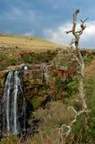 scenisk vattenfall för liggande Arkivfoton