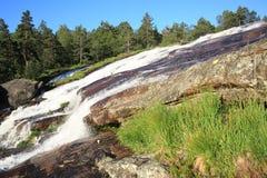 Scenisk vattenfall i Norge Royaltyfri Foto