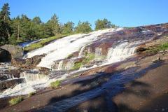Scenisk vattenfall i Norge Royaltyfri Bild