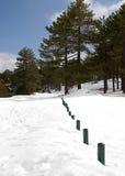 scenisk vinter arkivfoto