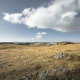 Scenisk Ynys Llandwyn tidvattens- ö i norr Wales arkivbilder