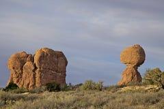 Sceniska bågar N.P. Utah för allsidig Rock Royaltyfri Fotografi