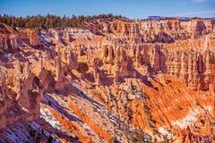Sceniska Bryce Park Utah Arkivfoto
