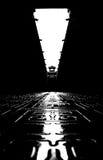 Sceniska fläckar i Hengdian, svartvita byggnader Royaltyfri Foto