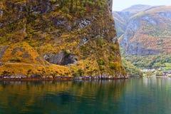 Sceniska landskap av de norska fjordarna Royaltyfri Foto