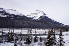 Sceniska landskap i den Banff nationalparken, Alberta, Kanada Fotografering för Bildbyråer