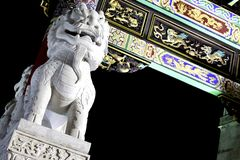 Sceniska Lion Statue Arkivbild