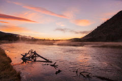 Sceniska Madison River Sunrise Arkivfoton