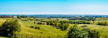 Sceniska Mandan förbiser, North Dakota arkivfoto