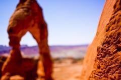Sceniska sandstenbildande av bågar nationalpark, Utah, USA Royaltyfri Foto