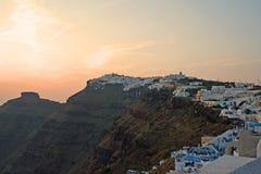 Sceniska Santorini, Grekland Arkivbilder