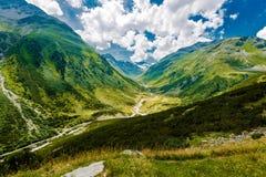 Sceniska schweiziska fjällängberg Arkivfoton