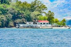 Sceniska sikter av Subic Bay arkivbilder