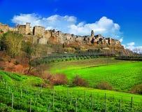 Sceniska Tuscany landskap fotografering för bildbyråer