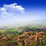 Sceniska Tuscany, Volterra, Italien Royaltyfria Bilder
