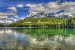 Sceniska två Jack Lake Arkivfoto
