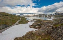 Sceniska 55 väg, Norge Arkivfoton