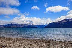 Sceniskt av Nya Zeeland för södra ö för sjöwanaka viktig landm Arkivbilder