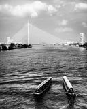 Chao Praya River i Bangkok, Thailand Arkivfoto