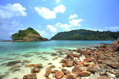 Resa stranden i thailand arkivbild
